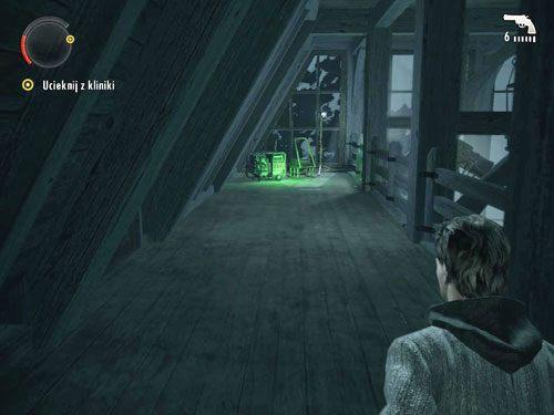 Po przerywniku filmowym uciekaj do pokoju, w którym znalazłeś ogłuszoną pielęgniarkę - Cauldron Lake Lodge (1) - Odcinek 4- Prawda - Alan Wake - PC - poradnik do gry