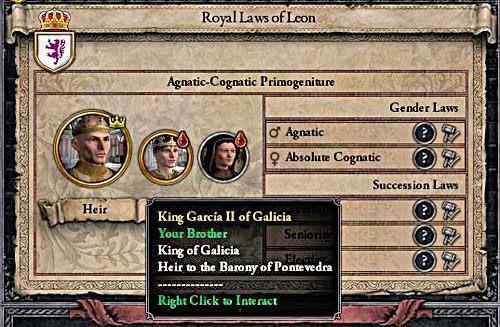 Na półwyspie Iberyjskim kumulowanie władzy dzięki mariażom to banalnie prosta sprawa. - Sukcesja męska, żeńska, równorzędna - Ród i Dziedziczenie - Crusader Kings II - poradnik do gry
