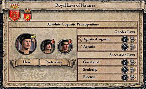 Kobieta-dziedzic to k�opoty i nic wi�cej. - Sukcesja m�ska, �e�ska, r�wnorz�dna - R�d i Dziedziczenie - Crusader Kings II - poradnik do gry
