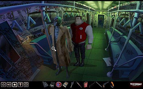 Potrzebujesz jeszcze naboi do rewolweru, które znajdziesz w prawej (lewej z punktu widzenia gracza) kieszeni płaszcza Borisa, wiszącego na manekinie w wagonie metra - Zdobądź rewolwer - Nowy Jork - stacja metra Cadway - Yesterday - poradnik do gry