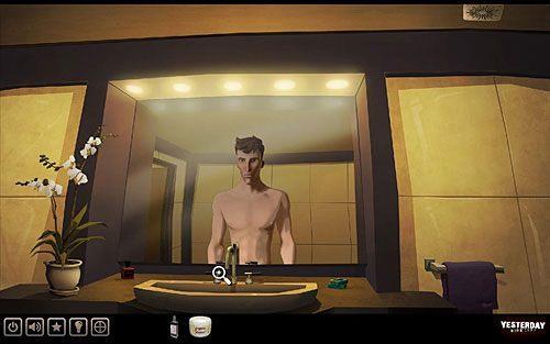 Oczywiście, by zobaczyć tłusty napis na lustrze, trzeba zaparować łazienkę - odkręć więc kurek z gorąca wodą (lewy) - Odkryj pierwsze słowo hasła - Paryż - hotel Dore - Yesterday - poradnik do gry