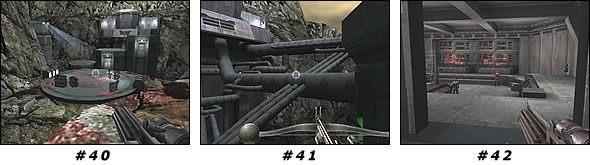 W środku załatw oficera stojącego na kładce u góry - Misja 03: Artus Mine - Star Wars Jedi Knight II: Jedi Outcast - poradnik do gry