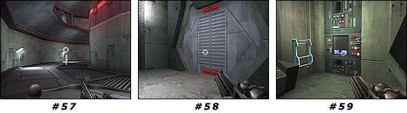 Jako że wspomniane przejście jest zamknięte, wyjdź jeszcze raz po schodach na górę - Misja 04: Artus Detention Area - Star Wars Jedi Knight II: Jedi Outcast - poradnik do gry
