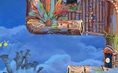 Za drzwiami czeka Cię kolejna przejażdżka na grzbiecie potwora (zaraz przed tym, miniesz roślinkę z 4 L) - Podniebna sonata (300 L, 2:50); Bez odwrotu (175 L) - Pustynia Dijirdów - Rayman Origins - poradnik do gry