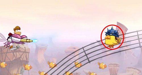 Pamiętaj również o strzelaniu do bębnów, dzięki którym trafisz cele normalnie nieosiągalne (np - Nie strzelaj tyle (300 L); Rzępolony pościg - Pustynia Dijirdów - Rayman Origins - poradnik do gry
