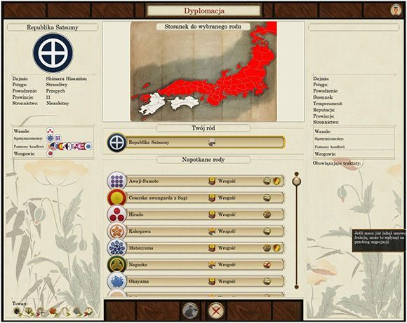 Nie jest ciekawie - my kontra reszta Japonii - Dyplomacja - Total War: SHOGUN 2 - Zmierzch Samurajów - poradnik do gry