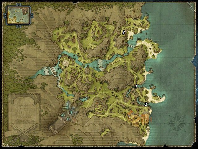 Ten quest jest częścią zadania: Statek Wrony - Bramy miasta o rzut kamieniem - Zadania - Wybrzeże Ostrzy - Risen 2: Mroczne wody - poradnik do gry