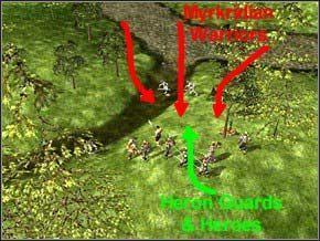 Następna zapora wroga jest bardzo prosta - Misja 3 - Journey To Llancarfan - Myth III: Era Wilka - poradnik do gry