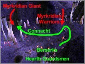 Na początku musisz zabić 7 Myrkdian Warriorów, którzy wybiegną z prawej (ale dopiero, jak się zbliżysz) - Misja 2 - The Nest - Myth III: Era Wilka - poradnik do gry