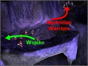 Biegnąc tak poczekaj, a drugi patrol będzie szedł w tę samą stronę, co ty - goń go wtedy, ale gdy on skręci w lewo, ty skieruj się w prawo, do samotnego wieśniaka - Misja 2 - The Nest - Myth III: Era Wilka - poradnik do gry