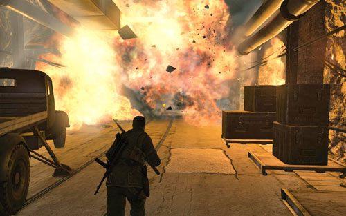 Stopniowo wszystko zacznie eksplodować - Misja 2 - Obiekt Mittelwerk (2) - Sniper Elite V2 - poradnik do gry