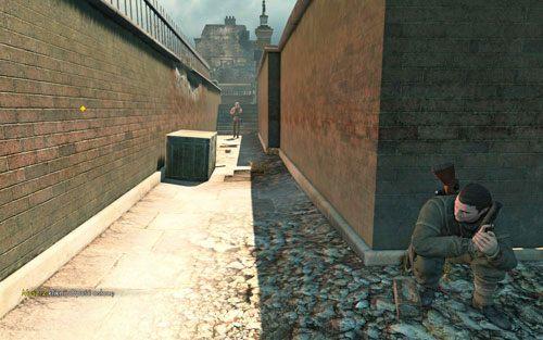 Zeskocz na dół, do wąskiego korytarzyka - Misja 3 - Muzeum Kaiser-Friedrich (1) - Sniper Elite V2 - poradnik do gry