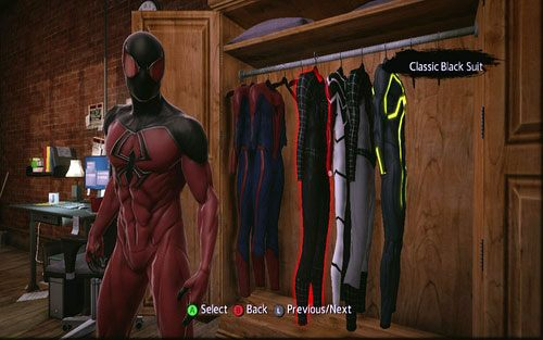 The Amazing Spider-Man Game Suits