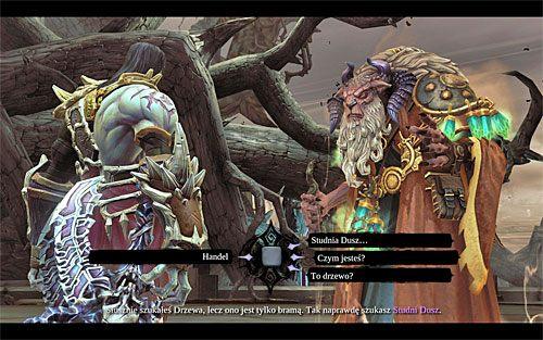 Eksplorację Królestwa Umarłych rozpoczynasz w lokacji [Drzewo Śmierci], a konkretnie od spotkania z Ostegothem - Znajdź Wiekuisty Tron (1) - Władca Kości - Darksiders II - poradnik do gry