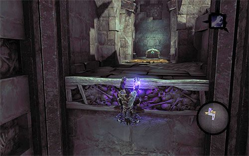 Zacznij przemieszczać się teraz ku górze, wykorzystując po drodze jeszcze jeden zaczep - Znajdź Wiekuisty Tron (1) - Władca Kości - Darksiders II - poradnik do gry
