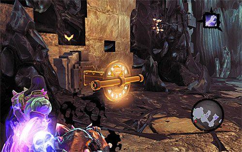 Pozbieraj przedmioty od zlikwidowanych potworów i wybierz wschodnie drzwi - Znajdź Wiekuisty Tron (1) - Władca Kości - Darksiders II - poradnik do gry