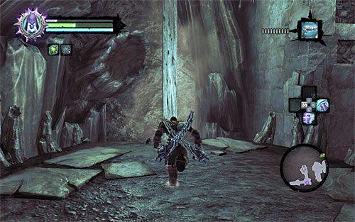 Nie przejmuj się tym, że nie możesz ponownie skorzystać z pierwszego mostu zwodzonego, albowiem w zastępstwie możesz doskoczyć do pokazanego na powyższym screenie pionowego drewnianego słupa - Znajdź Wiekuisty Tron (2) - Władca Kości - Darksiders II - poradnik do gry