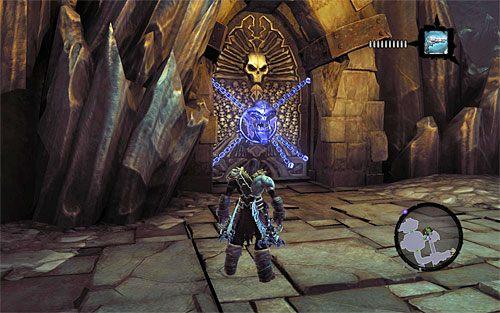 Możesz już powrócić z kluczem do mijanych wcześniej zamkniętych drzwi - Znajdź Wiekuisty Tron (2) - Władca Kości - Darksiders II - poradnik do gry