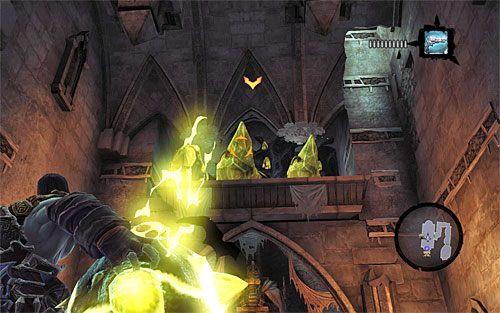 Rozejrzyj się za jeszcze jedną Monetą Przewoźnika oraz za ukrytym za jednym z posągów cieniobuchem - Znajdź Wiekuisty Tron (2) - Władca Kości - Darksiders II - poradnik do gry