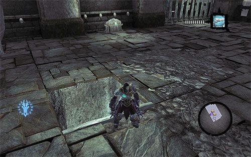 Zanim wyruszysz dalej w prawo zacznij chwytać się znajdujących się nad Tobą mniejszych krawędzi - Znajdź Wiekuisty Tron (2) - Władca Kości - Darksiders II - poradnik do gry