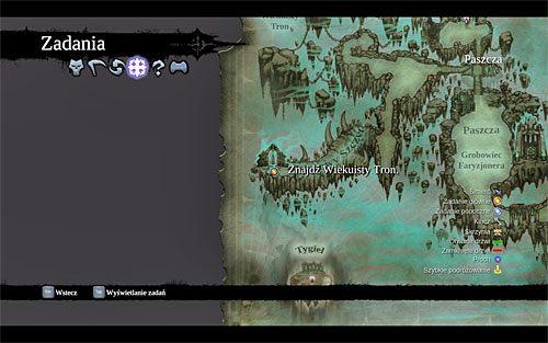 Tradycyjnie już radzę zaplanować dalszą podróż z poziomu mapy świata - Znajdź Wiekuisty Tron (2) - Władca Kości - Darksiders II - poradnik do gry