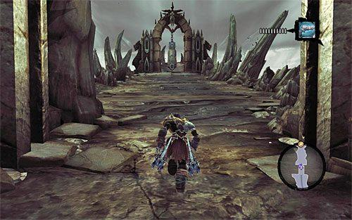 Podążaj dość liniową ścieżką, likwidując napotykane pojedyncze szkielety - Znajdź Wiekuisty Tron (2) - Władca Kości - Darksiders II - poradnik do gry