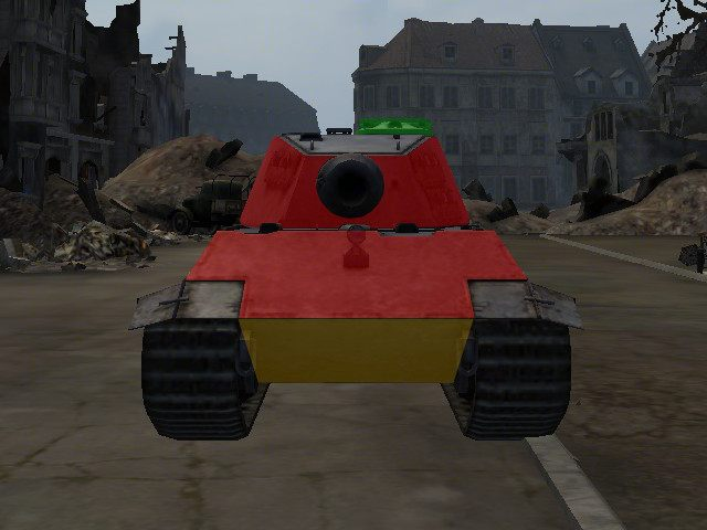 Nie tylko E-75 jest jednym z najsilniej opancerzonych czołgów w grze, lecz także jego front nie posiada wyraźnych słabych punktów - E-75 - World of Tanks - poradnik do gry