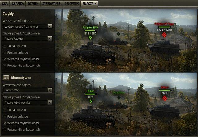 1 - Ustawienia interfejsu - Porady zaawansowane - World of Tanks - poradnik do gry
