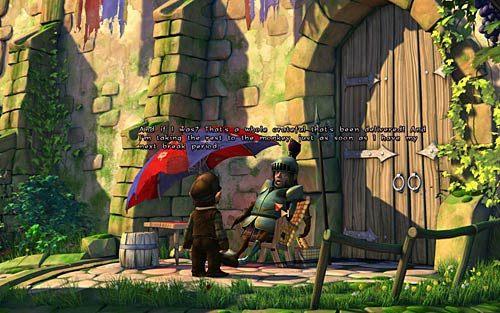 W trakcie narzekania graczy, do koszyka stojącego obok krzesła z małpą wpadła kartka - Jak przerwać grę RPG? - Rozdział 2 - In the Town - The Book of Unwritten Tales - poradnik do gry