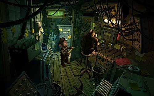 Wróć do serwerowni i daj banana małpie (Show the hairy demon the banana) - Jak przerwać grę RPG? - Rozdział 2 - In the Town - The Book of Unwritten Tales - poradnik do gry