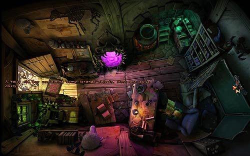 Rozejrzyj się po pomieszczeniu szkoły - Wilbur zostaje magiem (1) - Głodne szczury - Rozdział 2 - In the Town - The Book of Unwritten Tales - poradnik do gry
