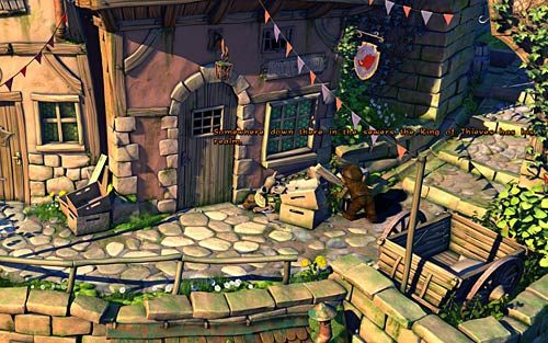Podejdź do małego wejścia do kanałów znajdującego się w chodniku obok tawerny - Wilbur zostaje magiem (1) - Głodne szczury - Rozdział 2 - In the Town - The Book of Unwritten Tales - poradnik do gry
