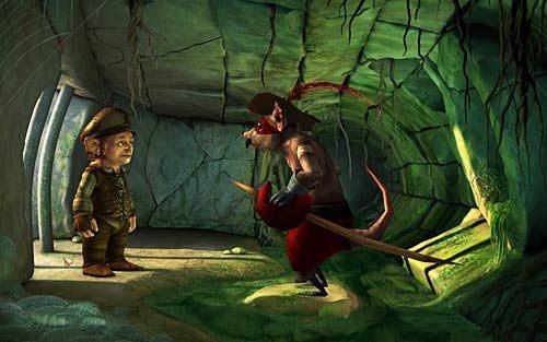 Nie musisz jeszcze raz zakładać pierścienia i pić mikstury, Wilbur zmniejszy się automatycznie przy próbie wejścia do kanałów - Wilbur zostaje magiem (1) - Głodne szczury - Rozdział 2 - In the Town - The Book of Unwritten Tales - poradnik do gry