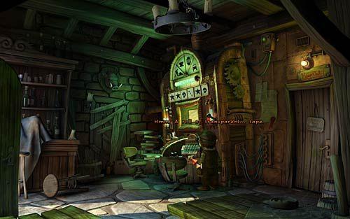 Idź do szkoły magii i powiedz o wszystkim karciance Markusowi (Do you by any chance know the game Master of Dragon Slayers Defender - Wilbur zostaje magiem (1) - Głodne szczury - Rozdział 2 - In the Town - The Book of Unwritten Tales - poradnik do gry