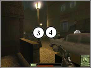 Idź dalej, w prawo, przeładuj kałasza i stań obok skrzynek - Praga - Soldier of Fortune 2: Double Helix - poradnik do gry