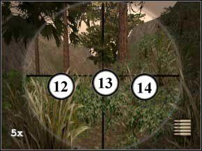 Idź w ich stronę, a następnie skręć w lewo - za drzewami w oddali będzie kolejnych dwóch - Colombia - Soldier of Fortune 2: Double Helix - poradnik do gry