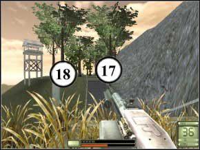 Wychyl się i sprzątnij dwóch (19) (20), którzy do ciebie przybiegną - Colombia - Soldier of Fortune 2: Double Helix - poradnik do gry