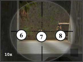 To jeszcze nie wszystko - musisz zdjąć także snajpera na wieży strażniczej tuż po prawej stronie mostu (9) - Colombia - Soldier of Fortune 2: Double Helix - poradnik do gry