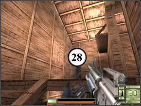 W korytarzu na górze rozprawi się z parą (29) (30), otwórz drzwi na balkon - dwóch na nim powinno zginąć (31) (32), ty musisz załatwić tylko jednego na dole (33) - Colombia - Soldier of Fortune 2: Double Helix - poradnik do gry