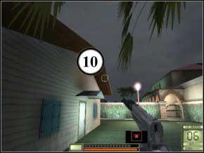 Idź za ten domek wzdłuż muru, gdy skręcisz w prawo, przygotuj się do zabicia dwóch przeciwników - psa i strażnika (używaj M4 lub AK74) (11) (12) - Vergara - Soldier of Fortune 2: Double Helix - poradnik do gry