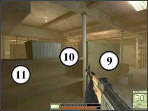 Idź przed siebie do drugiej dziury - tam z góry zdołasz zabić dwóch strażników (12) (13) - Vergara - Soldier of Fortune 2: Double Helix - poradnik do gry