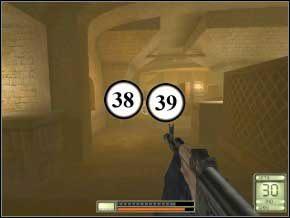 a następnie drugą (40) (41), uważaj na ich granaty dymne, najlepiej zabijać ich z daleka - Vergara - Soldier of Fortune 2: Double Helix - poradnik do gry