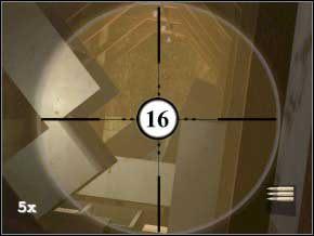 Wejdź do pokoju, szafka zasłania przejście, otwórz więc drzwi po lewej, w pokoju zabij dwóch strażników (17) (18) - Vergara - Soldier of Fortune 2: Double Helix - poradnik do gry