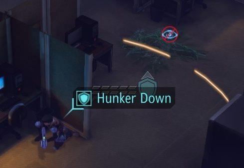 Komandos wykonujący manewr Hunker Down podwaja skuteczność pobliskiej osłony i dostajeje odporność na trafienia krytyczne! - Jak strzelać, żeby trafić? - Turowy system walki - XCOM: Enemy Unknown - poradnik do gry