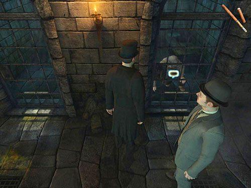 Teraz zejdź do sutereny i maszeruj pod celę Schielmana - Uruchom alarm - Ucieczka z więzienia Westgate - Testament Sherlocka Holmesa - poradnik do gry
