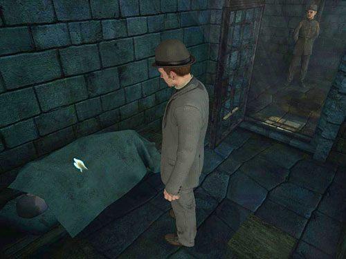Wejdź do środka i zbadaj leżącego pod kocem mężczyznę - Uruchom alarm - Ucieczka z więzienia Westgate - Testament Sherlocka Holmesa - poradnik do gry