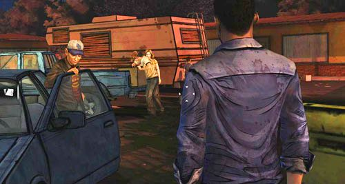 To już prawie koniec epizodu pierwszego - 7 - Two Enter, One Leaves - Epizod I - A New Day - The Walking Dead - poradnik do gry