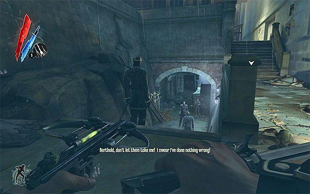 Po znalezieniu się w nowym miejscu udaj się prosto - Dotarcie do podwórza - Misja 2 - High Overseer Campbell - Dishonored - poradnik do gry