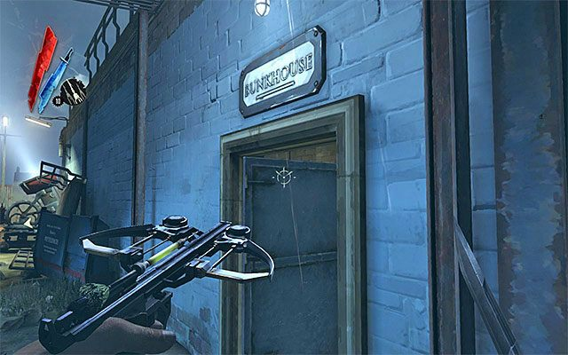 Kolejne miejsce, do kt�rego warto si� uda�, to baraki (Bunkhouse) - Zbadanie podw�rza - Misja 2 - High Overseer Campbell - Dishonored - poradnik do gry