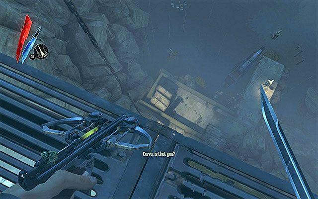Przejd� przez wspomniany wy�ej budynek i skr�� w lewo - Spotkanie si� z Samuelem - Misja 2 - High Overseer Campbell - Dishonored - poradnik do gry